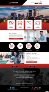 Affinity Credit Union home page
