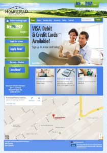 Homestead Federal Credit Union home page